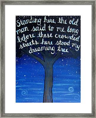Dreaming Tree Lyric Art Framed Print
