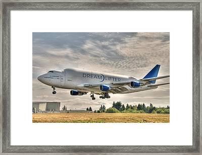 Dreamlifter Landing 1 Framed Print by Jeff Cook