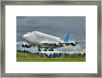 Dreamlifter Landing 2 Framed Print by Jeff Cook