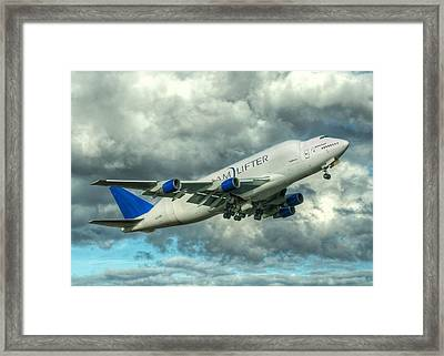 Dreamlifter Takeoff Framed Print by Jeff Cook