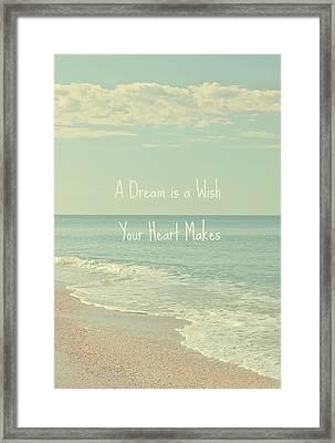 Dreams And Wishes Framed Print by Kim Hojnacki