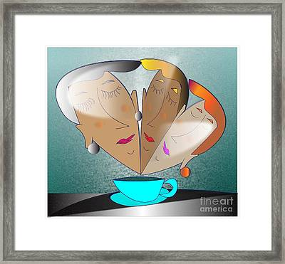 Framed Print featuring the digital art Dreams Cafe by Iris Gelbart