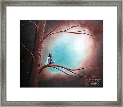 Original Cat Artwork - Dreams Can Take You Far Framed Print by Shawna Erback