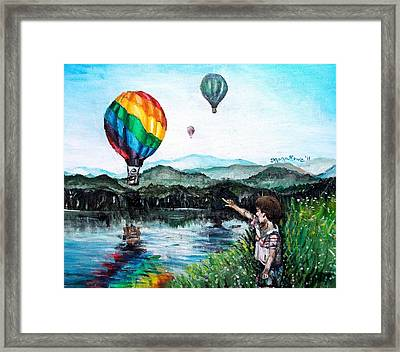 Framed Print featuring the painting Dreams Do Come True by Shana Rowe Jackson