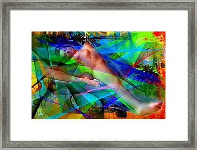 Framed Print featuring the digital art Dreams In Color by Rafael Salazar