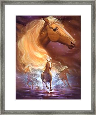 Dreams Need Hope To Run Free Framed Print by Jeff Haynie