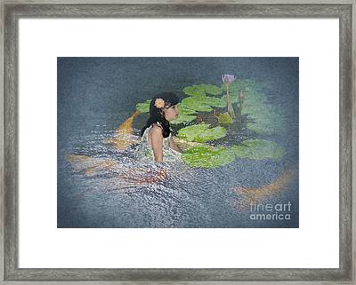 Dreams Of Golden Scales Framed Print by Audra D Lemke