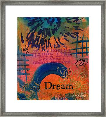 Dreams Of Joy Framed Print by Angela L Walker