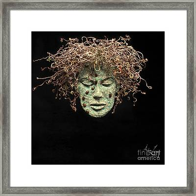 Dreams Of Order And Chaos Original Relief Wall Hanging Sculpture Framed Print by Adam Long