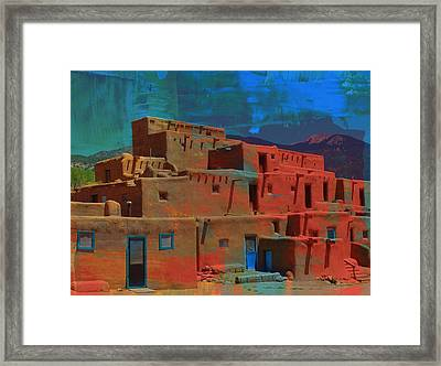 Framed Print featuring the mixed media Dreams Of Taos by Michelle Dallocchio