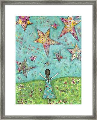 Dreams On Stars Framed Print