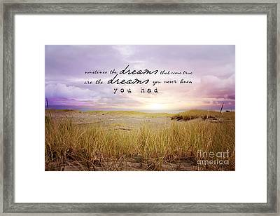 Framed Print featuring the photograph Dreams by Sylvia Cook