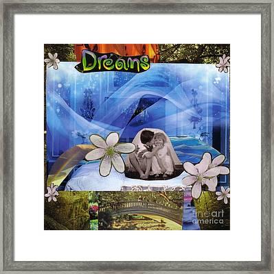Dreams Version 1 Framed Print by Leslie Jennings