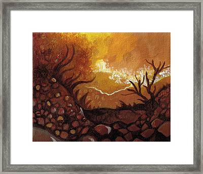 Dreamscape In Fall Tones #4 Of 4 Framed Print by Laura Noel