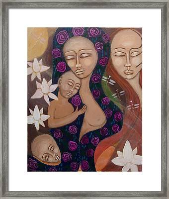 Dreamtime Communion Framed Print by Havi Mandell