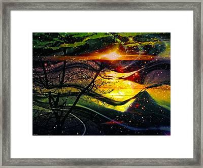 Dreamtime Framed Print by Linda Sannuti