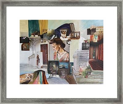 Dreamworld - Collage Framed Print
