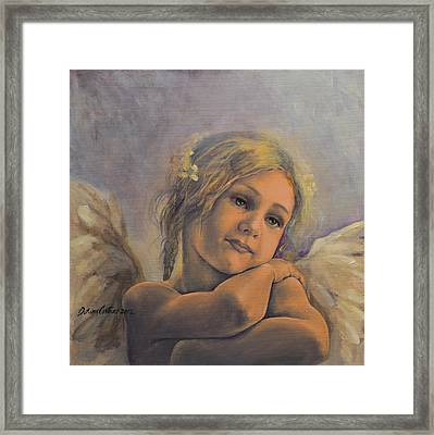 Dreamy Angel Framed Print by Dorina  Costras
