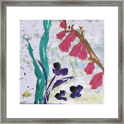 Dreamy Day Flowers Framed Print