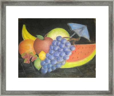 Dreamy Fruit Framed Print by Tracy Lawrence