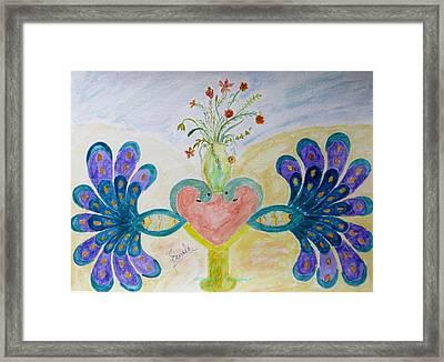 Dreamy Heart Framed Print by Sonali Gangane