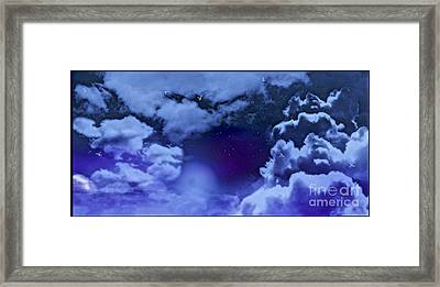 Dreamy Night Framed Print by Sheikh Designs