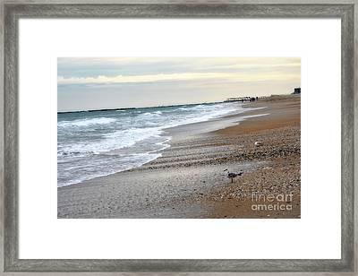 Dreamy Ocean Beach North Carolina Coastal Beach  Framed Print by Kathy Fornal