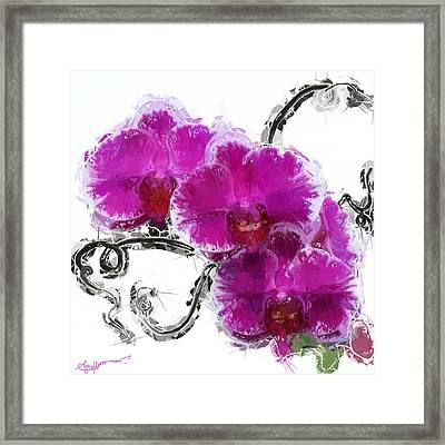 Dreamy Orchids Framed Print