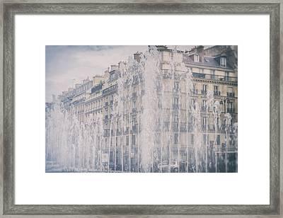 Dreamy Paris Fountains Framed Print by Georgia Fowler