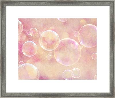 Dreamy Pink Bubbles Framed Print by Lisa Russo