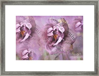 Dreamy Purple Lavender Impressionistic Abstract Floral Art Photography Framed Print