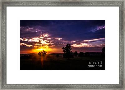 Dreamy Sunset Framed Print by Julie Clements
