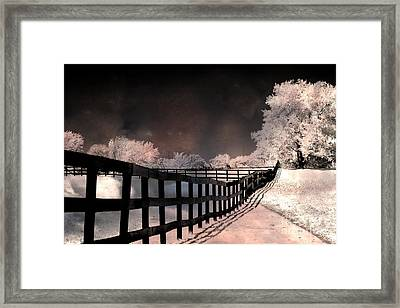 Dreamy Surreal Fantasy Infrared Color Landscape Framed Print by Kathy Fornal