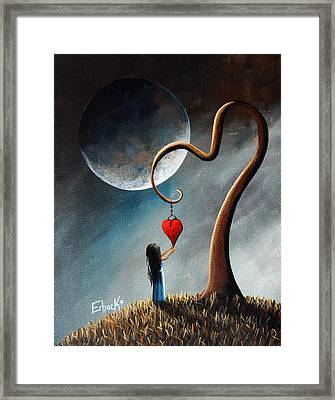 Dreamy Surreal Original Landscape Painting  Framed Print by Shawna Erback