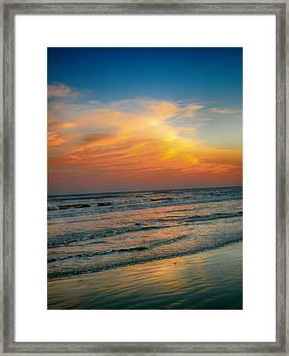 Dreamy Texas Sunset Framed Print by Kristina Deane