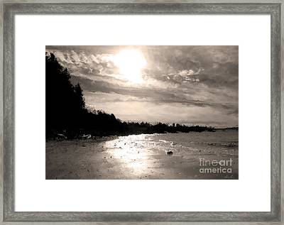 Framed Print featuring the photograph Dreamy Tides by Arlene Sundby