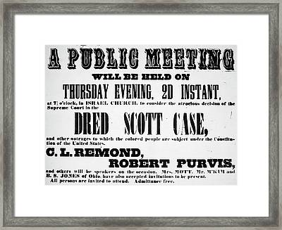 Dred Scott (c1795-1858) Framed Print by Granger