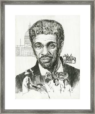 Dred Scott Framed Print by Don  Langeneckert