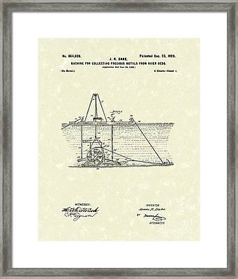 Dredger 1900 Patent Art Framed Print