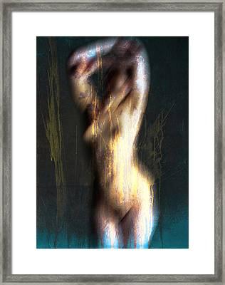 Drenched Flames  Framed Print