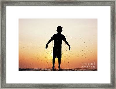 Drenched Framed Print by Tim Gainey