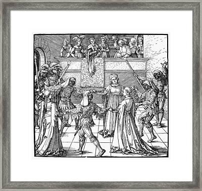 D�rer Masquerade, 1517 Framed Print