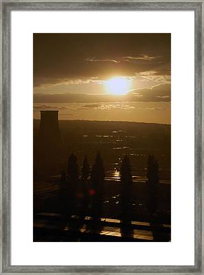Dresden At Sunset Framed Print by Peter Cassidy