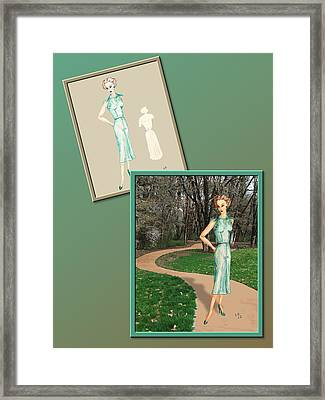 Dress Design 24 Framed Print by Judi Quelland