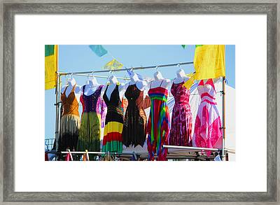 Dress For Excess Framed Print by Kym Backland