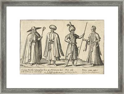 Dress Of Ottomans And Persians Around 1580 Framed Print