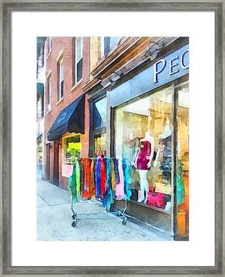 Hoboken Nj Dress Shop Framed Print by Susan Savad