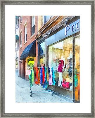 Hoboken Nj Dress Shop Framed Print