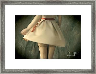 Dress Twirl Framed Print