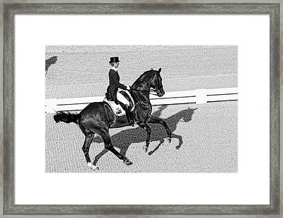 Dressage Une Noir Framed Print by Alice Gipson